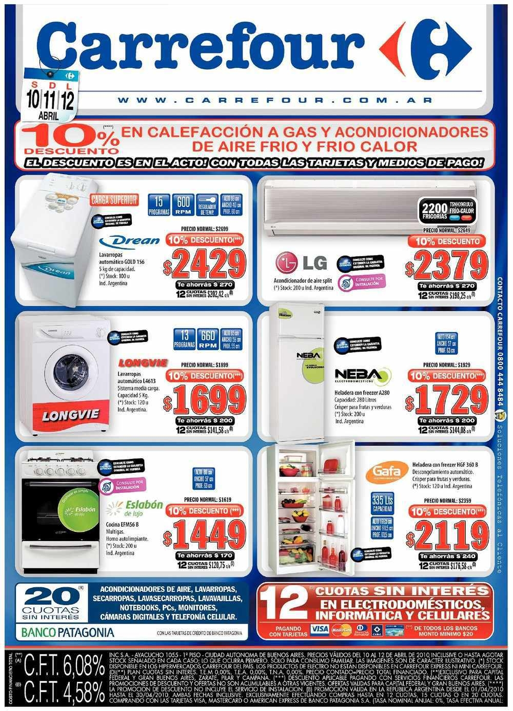 Mega post ofertas carrefour en lcds tvs calefacci n for Cocina de gas carrefour